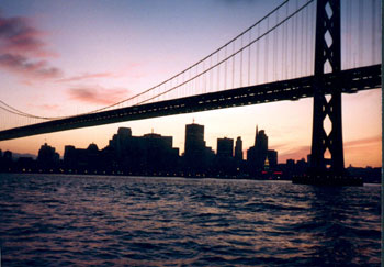 A view of the city on the Sunset Cruise