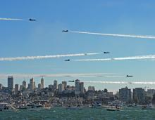 Blue angels on the bay
